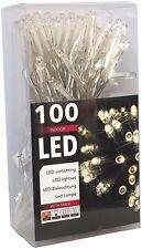 100er Led-lichterkette Batteriebetrieb Warmweiss Timer transparentes Kabel (20027)