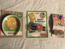 The Simpsons Hair Band Belt Pony Tail Holder Vintage 1990 Rare set of 3