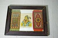Antique Tobacco Silks Zira Cigarette Black Hawk Apache  2 Flannel Dollhouse Rugs