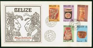 Mayfairstamps Belize FDC 1975 Maya Handmade Artifacts Combo First Day Cover wwo_