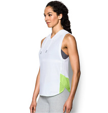 Under Armour UA Women's Favorite Mesh Sleeveless Hoodie White Large L $40