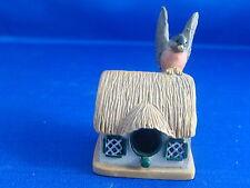 Lenox Garden Miniature Birdhouse Robin on Thatched Cottage