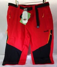 "Izas Men's Ospika 3/4"" Capri Stretch Pants Red Black Orange Us Xl T3"
