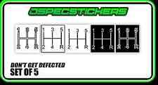 GEAR KNOB SHIFTER STICKER 5 SPEED MANUAL CAR DEFECT H PATTERN IMPORT LOWLUX 4WD