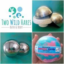 """3.5"""" Bath Bomb Mold, Stainless, Almost Softball Size, Won't Dent, USA Seller"""