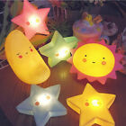 Cute Cloud Star Moon LED Night Light Wall Lamp Baby Kids Bedroom Home Decor