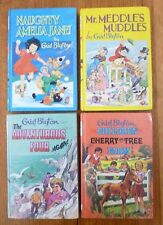 4 Vintage ENID BLYTON Hardback Books, NAUGHTY AMELIA JANE, MR MEDDLE'S MUDDLES