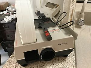 HANIMEX RONDETTE 1800 SLIDE PROJECTOR MAGAZINE BOX REMOTE CONTROL FULLY WORKING