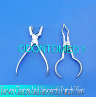 Brewer Clamps And Ainsworth Punch Pliers Rubber Dam Instruments