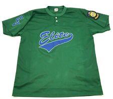 VINTAGE American Legion Elite Baseball Jersey Size Extra Large XL Green Blue 90s
