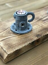 Industrial Tea Light Candle Holder; Scaffold, Weathered, Rustic & Heavy Duty