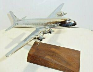Desk display Aircraft  Pastushin  Allyn Chrome Ashtray Model Douglas  DC7