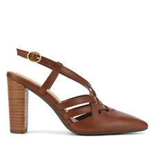 Hao Cedar Leather Pointed Toe Block Heel.