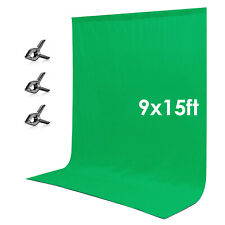 Neewer 3 x 5m Green Chromakey Muslin Backdrop Background Screen with 3 Clamps
