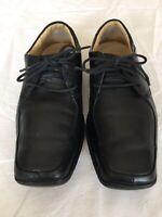 Clarks Men Black Leather Shoes Size 8 (H56).