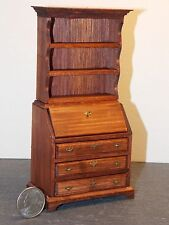Dollhouse Miniature Desk Secretary B Walnut 1:12 inch scale K39 Dollys Gallery