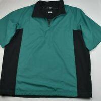 Men's XL Nike Golf Storm Fit 1/2 Zip Windbreaker Short Sleeve Green Jacket D1
