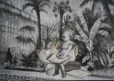 Delmeire François-xavier - pièce unique, collage papier - Alice in Wonderland
