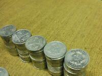 DDR , 100 x 1 Mark ALU , Lot / Posten mit 100 Stück ( Verschiedene Jahre )