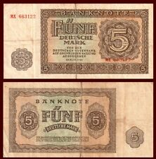 GERMANY DEMOCRATIC 5 MARK 1948 P 11