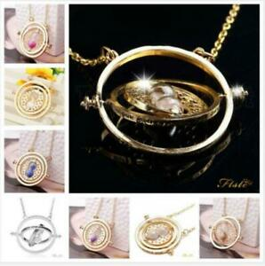 Harry Time Turner Necklace Hermione Granger Rotating Spins Gold Hourglass
