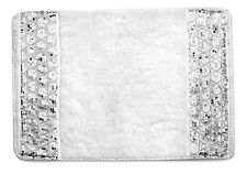 "Popular Bath Sinatra White Collection - 21"" x 32"" Bathroom Rug"