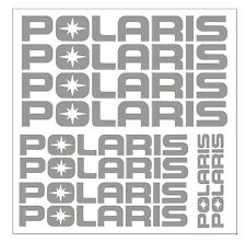 "Polaris Silver Sticker Sheet 11"" 9"" 5"" included Bundle Atv Snowmobile Utv"