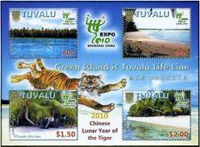 Tuvalu - Lunar New Year of Tiger - Shanghai Expo Stamp - Sheetlet MNH
