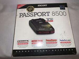 Escort INTL x50 RED passport 8500 w case radar speed laser detector Barely Used