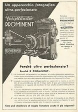 W7717 Apparecchio Fotografico VOIGTLANDER Prominent - Pubblicità del 1933 - Ad