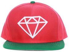 DIAMOND SUPPLY CO SNAPBACK RED WHITE GREEN HAT SKATEBOARD SKATE CAP FRESH LOGO