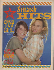 Marilyn on Smash Hits Magazine Cover 1984    Stuart Adamson    China Crisis