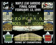 TORONTO MAPLE LEAFS vs CHICAGO FEB 13 1999 FINAL MAPLE LEAF GARDENS SEAT PHOTO
