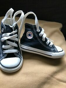 CONVERSE HI TOP TRAINERS Infant SIZE 4 NAVY Converse Toddler/baby Shoes