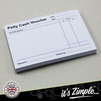 Petty Cash Slips - Vouchers Pad Book - 100 sheets book Petty Cash Vouchers