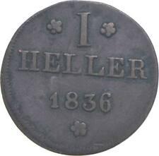 Better - 1836 Imperial City Of Frankfurt 1 Heller *035
