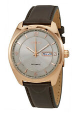 Seiko SNKN72 Men's Recraft Series Rose Gold Tone Leather Band Automatic Watch