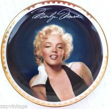 "Bradford Exchange ""Graceful Beauty"" Marilyn Monroe The Gold Collection Plate"
