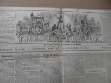 1863 The Liberator Newspaper Civil War Abraham Lincoln Emancipation Proclamation