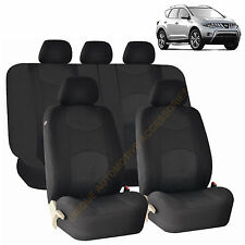 BLACK AIRBAG SEAT COVERS & SPLIT Bench 9pc SET FOR NISSAN MURANO SENTRA ROGUE