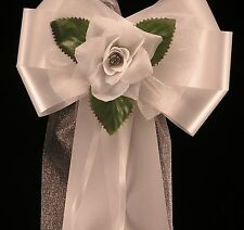 Wedding Pew Ends Chair Bows Church Venue Decor ANY colour/quantity PERSONALISED