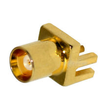 MCX end launch PCB jack female connector for .062'' PCB