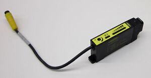 Banner 33715 DIN Rail Glass Fiber Optic Sensor w/ Quick Disconnect D12SP6FVQ