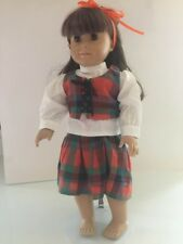 "18"" doll Plaid ""Dirndl"" Skirt, Shirt and Vest, New, Fits all 18"" Dolls"