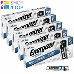 50 ENERGIZER AAA ULTIMATE LITHIUM L92 BATTERIES 1.5V MICRO MINI STILO NEW