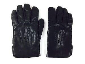 Vintage Leather Motorcycle Gloves 1980s Black Leather Gloves Size 8 1/2