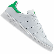 Scarpe adidas Junior Stan Smith J Bianche-verdi Ai17 M20605 36 2-3