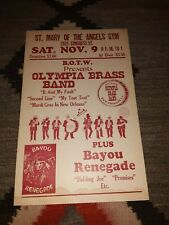OLYMPIA BRASS BAND New Orleans ORIGINAL POSTER 14 x 22 1985