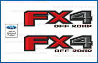 set of 2: 2017 Ford F250 F350 FX4 Off Road Decals F offroad Stickers bed Side