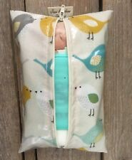 Baby Wipes holder, Wipes case, Wet Wipes Pouch in Birds Oilcloth